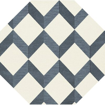 Bella Blue/White Area Rug Rug Size: Octagon 8