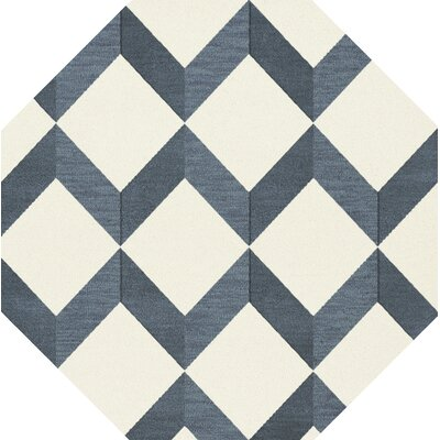 Bella Blue/White Area Rug Rug Size: Octagon 10