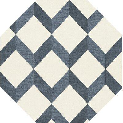 Bella Blue/White Area Rug Rug Size: Octagon 10