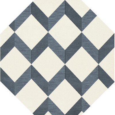 Bella Blue/White Area Rug Rug Size: Octagon 4