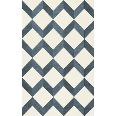 Bella Blue/White Area Rug Rug Size: Rectangle 3 x 5
