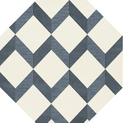 Bella Blue/White Area Rug Rug Size: Octagon 12