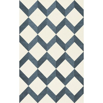 Bella Blue/White Area Rug Rug Size: Rectangle 9 x 12