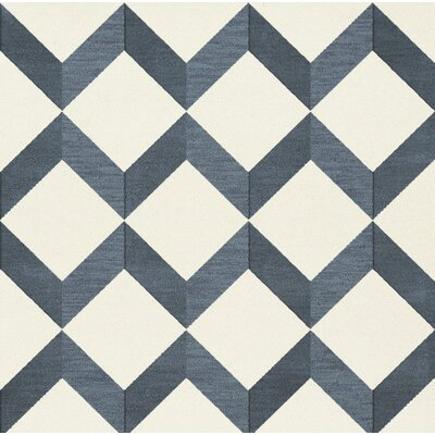 Bella Blue/White Area Rug Rug Size: Square 4