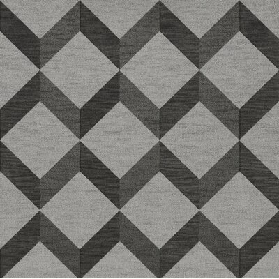 Bella Gray/Black Area Rug Rug Size: Square 6
