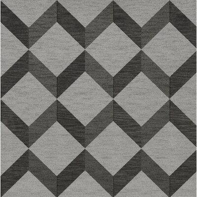 Bella Gray/Black Area Rug Rug Size: Square 8