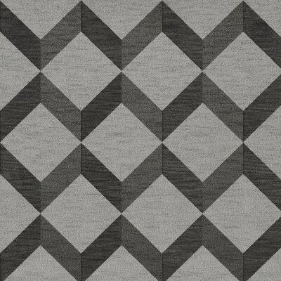 Bella Gray/Black Area Rug Rug Size: Square 12