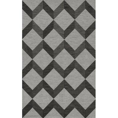 Bella Gray/Black Area Rug Rug Size: 9 x 12