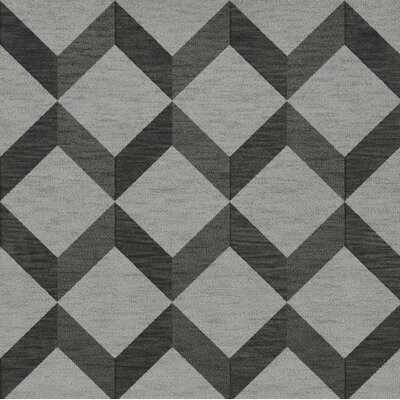 Bella Machine Woven Wool Gray/Black Area Rug Rug Size: Square 10