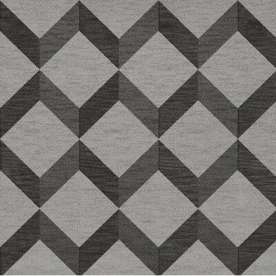Bella Gray/Black Area Rug Rug Size: Square 10
