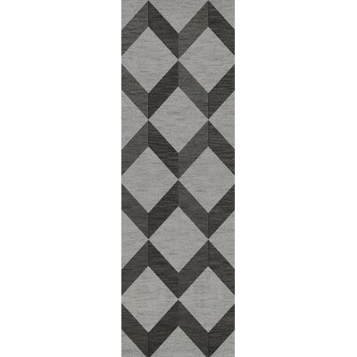 Bella Gray/Black Area Rug Rug Size: Runner 26 x 10