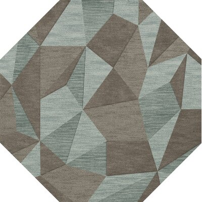 Bella Gray/Brown Area Rug Rug Size: Octagon 8