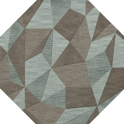 Bella Gray/Brown Area Rug Rug Size: Octagon 12