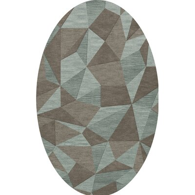 Bella Gray/Brown Area Rug Rug Size: Oval 8 x 10