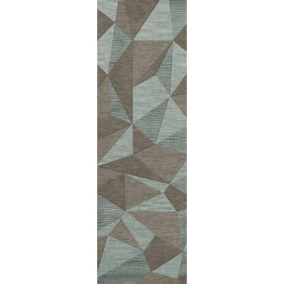 Bella Gray/Brown Area Rug Rug Size: Runner 26 x 12