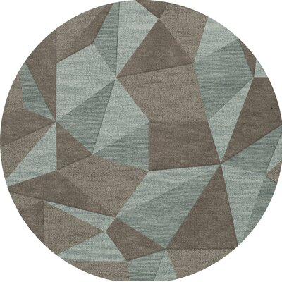 Bella Gray/Brown Area Rug Rug Size: Round 6