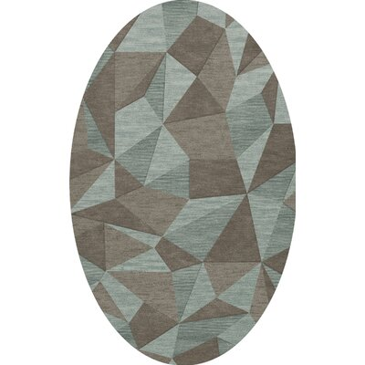 Bella Gray/Brown Area Rug Rug Size: Oval 12 x 15