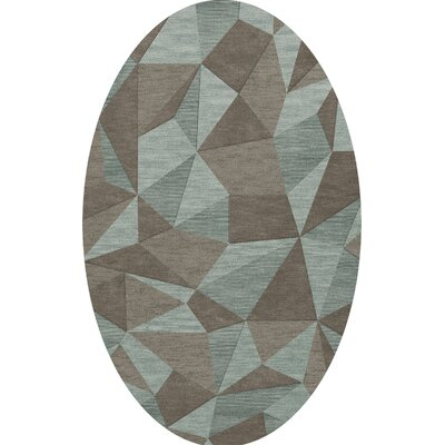 Bella Gray/Brown Area Rug Rug Size: Oval 5 x 8