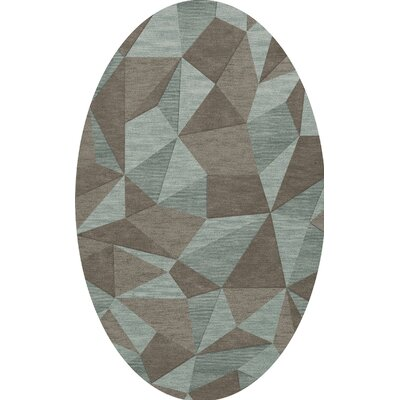 Bella Gray/Brown Area Rug Rug Size: Oval 6 x 9