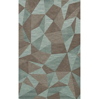 Bella Gray/Brown Area Rug Rug Size: Rectangle 4 x 6