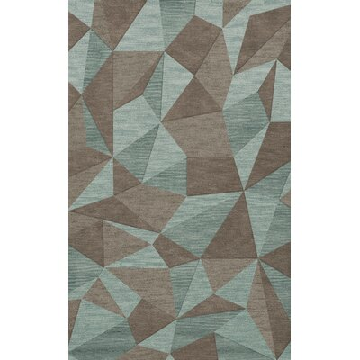 Bella Gray/Brown Area Rug Rug Size: Rectangle 12 x 18