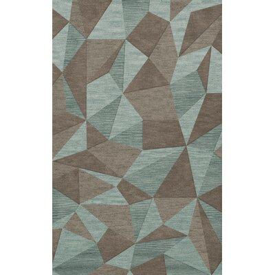 Bella Gray/Brown Area Rug Rug Size: 12 x 18