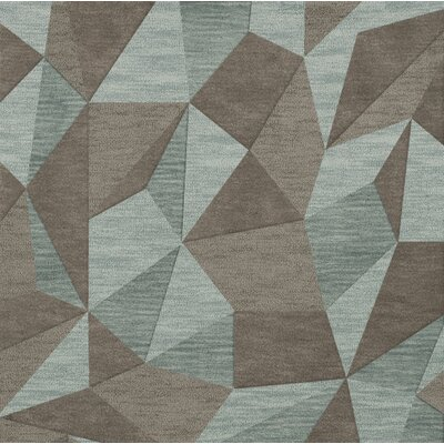 Bella Gray/Brown Area Rug Rug Size: Square 8
