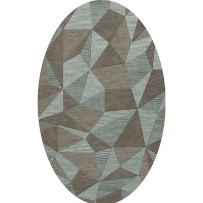 Bella Gray/Brown Area Rug Rug Size: Oval 12 x 18