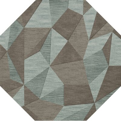 Bella Gray/Brown Area Rug Rug Size: Octagon 6