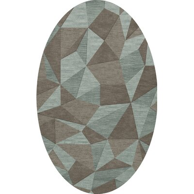 Bella Gray/Brown Area Rug Rug Size: Oval 4 x 6