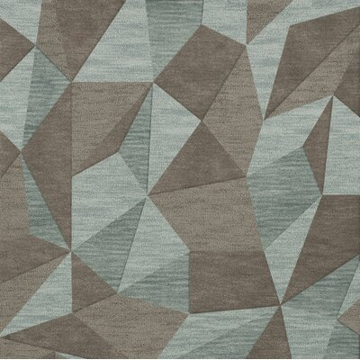 Bella Gray/Brown Area Rug Rug Size: Square 12