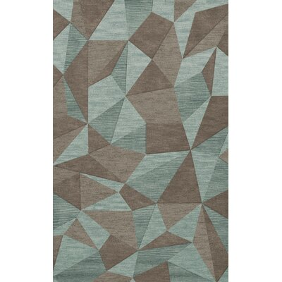 Bella Gray/Brown Area Rug Rug Size: 3 x 5