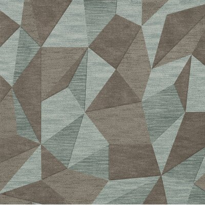 Bella Gray/Brown Area Rug Rug Size: Square 4