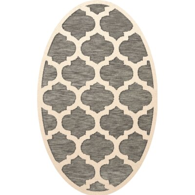 Bella Gray/Beige Area Rug Rug Size: Oval 10 x 14