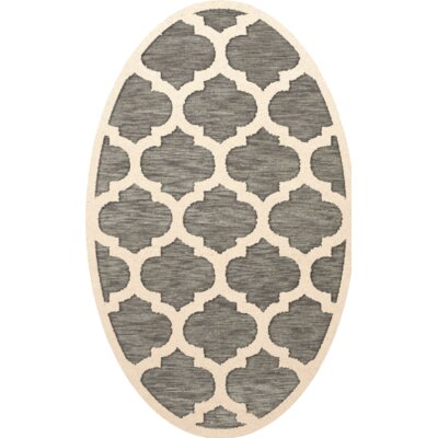 Bella Gray/Beige Area Rug Rug Size: Oval 12 x 18