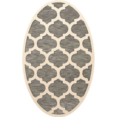 Bella Gray/Beige Area Rug Rug Size: Oval 9 x 12