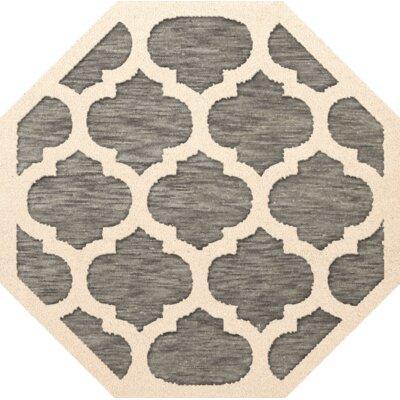 Bella Gray/Beige Area Rug Rug Size: Octagon 4