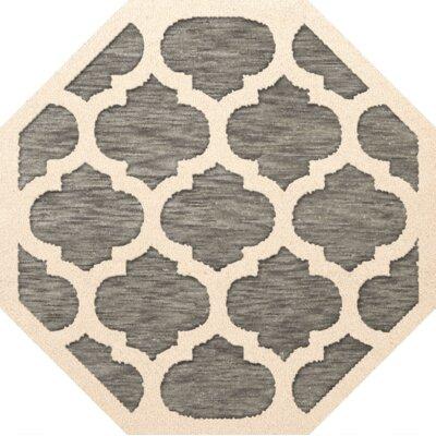 Bella Gray/Beige Area Rug Rug Size: Octagon 10