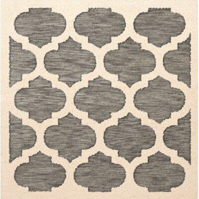 Bella Gray/Beige Area Rug Rug Size: Square 6