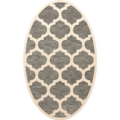 Bella Gray/Beige Area Rug Rug Size: Oval 4 x 6