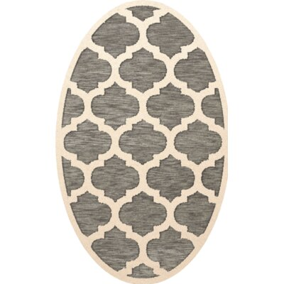 Bella Gray/Beige Area Rug Rug Size: Oval 3 x 5
