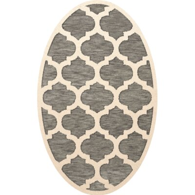 Bella Gray/Beige Area Rug Rug Size: Oval 8 x 10