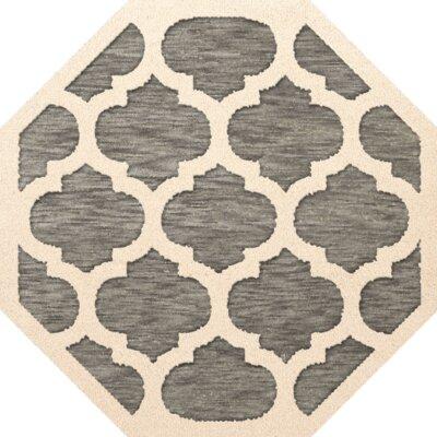 Bella Gray/Beige Area Rug Rug Size: Octagon 8