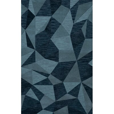 Bella Machine Woven Wool Blue Area Rug Rug Size: Rectangle 5 x 8