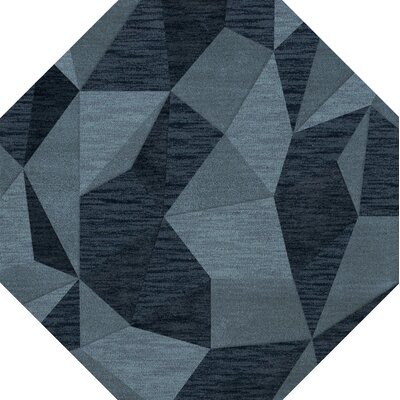 Bella Blue Area Rug Rug Size: Octagon 6