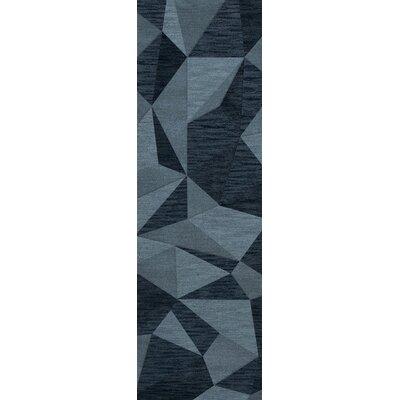 Bella Blue Area Rug Rug Size: Runner 26 x 12