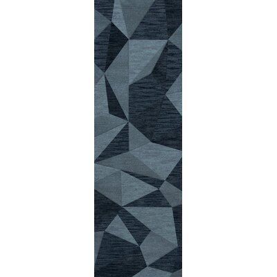 Bella Machine Woven Wool Blue Area Rug Rug Size: Runner 26 x 10