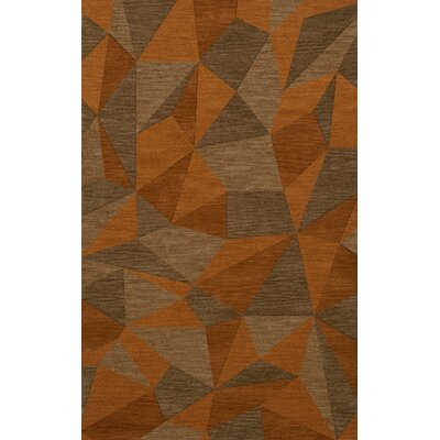 Bella Machine Woven Wool Orange/Brown  Area Rug Rug Size: Rectangle 9 x 12
