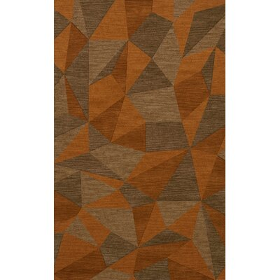 Bella Machine Woven Wool Orange/Brown  Area Rug Rug Size: Rectangle 3 x 5