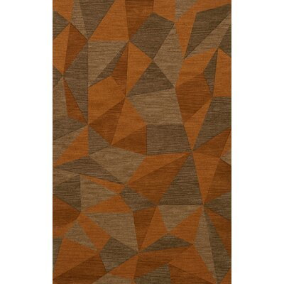 Bella Machine Woven Wool Orange/Brown  Area Rug Rug Size: Rectangle 10 x 14